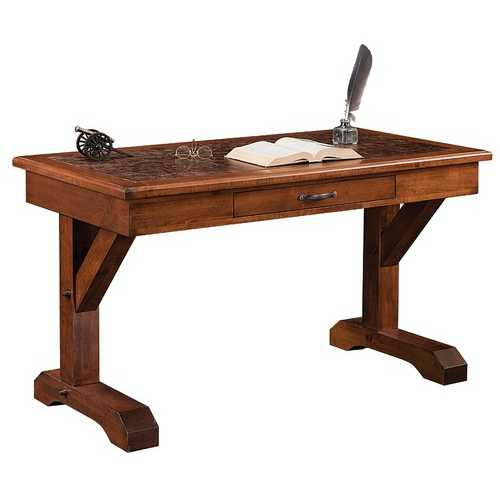 "54"" x 28"" x 30.5"" Wooden Dutch Tavern Stain Writers Desk"