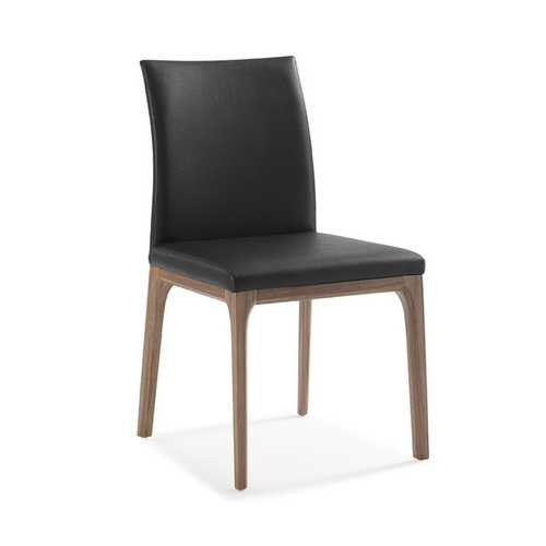 """20"""" X 24"""" X 35"""" Black Faux Leather or Metal Dining Chair"""