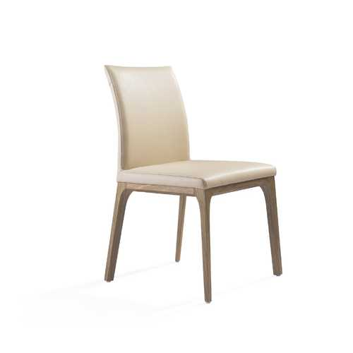 """20"""" X 24"""" X 35"""" Taupe Faux Leather or Metal Dining Chair"""