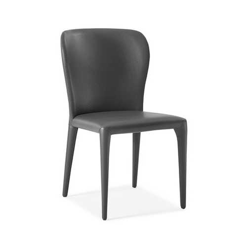 """20"""" X 24"""" X 35"""" Gray Faux Leather or Metal Dining Chair"""