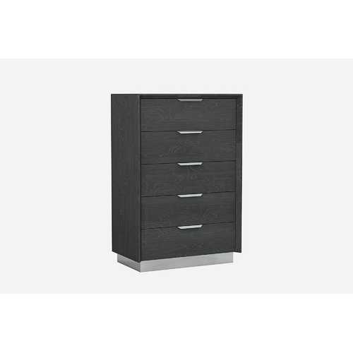 "33"" X 19"" X 49"" Grey Stainless Steel Drawer Chest"