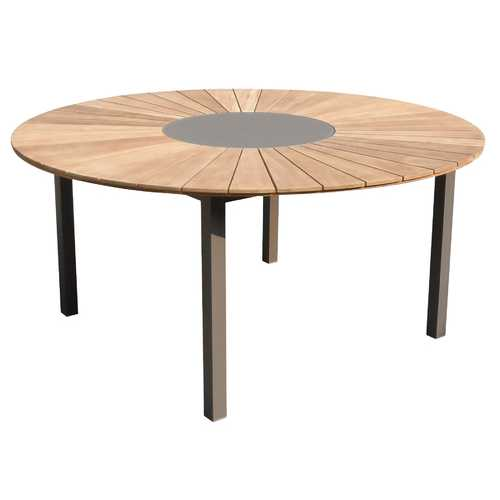 "63"" X 29"" Clear Teak Dining Table"