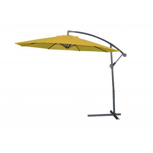 "118"" X 118"" X 97"" Yellow Steel Standing Umbrella"