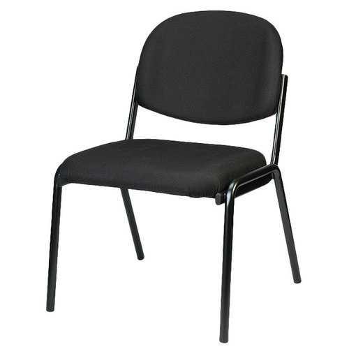 "19.3"" x 18.5"" x 31"" Black Fabric Guest Chair"