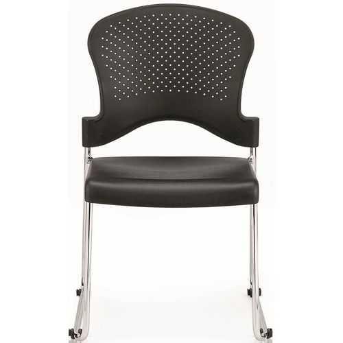 "18"" x 23"" x 34"" Black Plastic Chair"