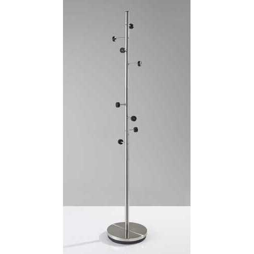 "12"" X 67.5"" Brushed Steel Brushed Steel Coat Rack"