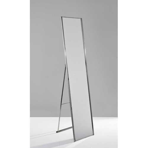 """13.5"""" X 14.5"""" X 59"""" Brushed steel  Floor Mirror"""