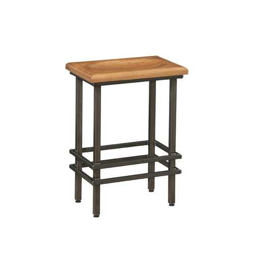 """24"""" Deco Natural Cherry And Black Steel Bar Stool"""