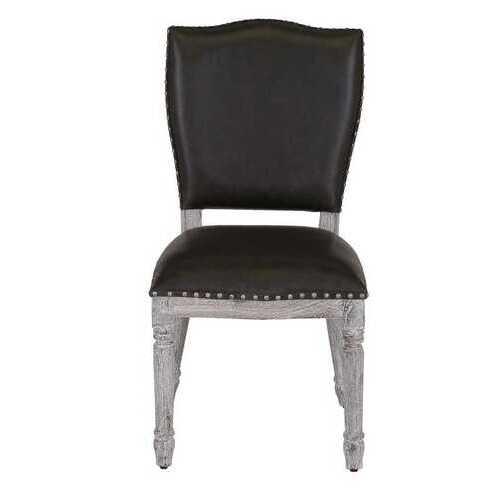 """19"""" X 21.5"""" X 39"""" Burn White Wash Chair"""