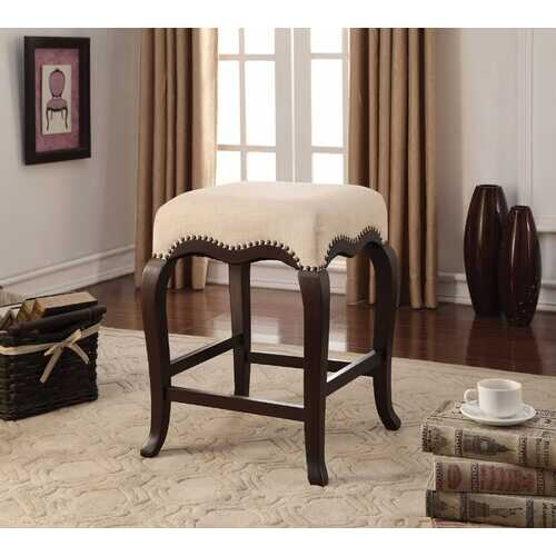"""19"""" X 19"""" X 24"""" Espresso Wood Counter Height Stool (1Pc)"""