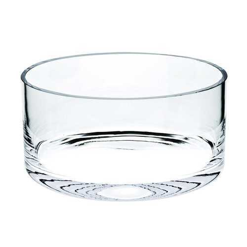 "10"" Mouth Blown Crystal European Made Crystal Bowl"