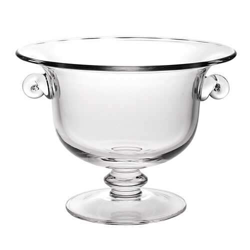"""13"""" Mouth Blown Crystal Trophy Centerpiece Fruit or Punchbowl"""