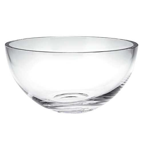 "10"" Mouth Blown Glass Salad or Fruit Bowl"