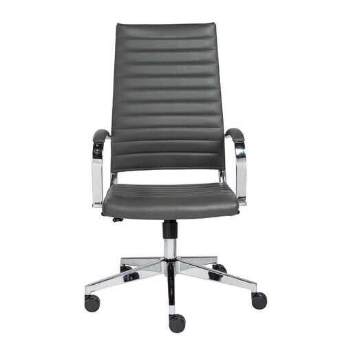 """22.25"""" X 27.01"""" X 45.28"""" High Back Office Chair in Gray"""