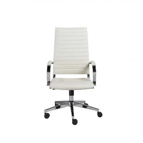 """22.25"""" X 27.01"""" X 45.28"""" High Back Office Chair in White"""