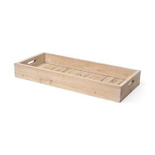 Natural Blonde Wood With Coastal Inspired Tray
