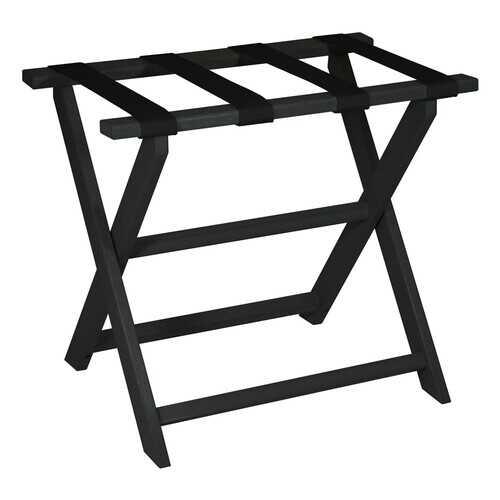 Black ECO Straight Leg Luggage Rack with 4 Fine Black Nylon Straps
