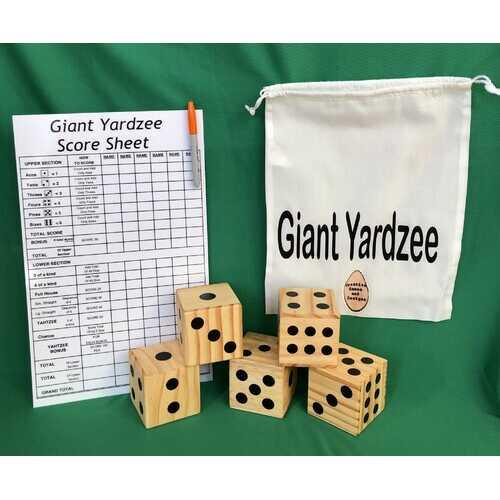 Large Outdoor Yardzee Dice Game Set