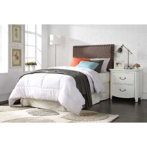 Acme Sabina Twin Headboard Only, Brown Linen