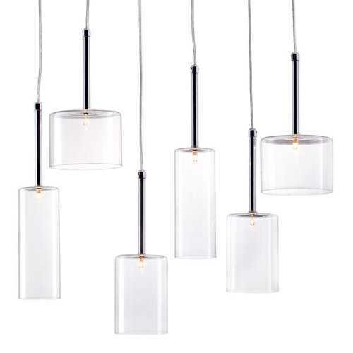 "21.7"" X 5.5"" X 13"" Glass Chrome Ceiling Lamp"