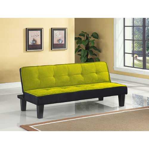 Adjustable Sofa, Green Flannel Fabric