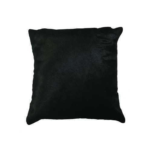 """18"""" X 18"""" X 5"""" Black Cowhide Pillow"""