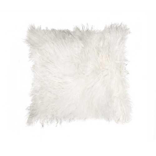 "18"" X 18"" White Sheepskin Pillow"