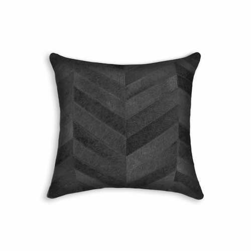 """18"""" X 18"""" X 5"""" Black And Natural Pillow"""