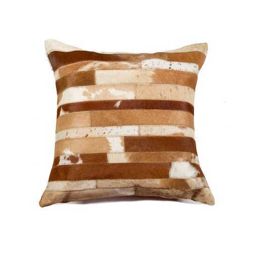 """18"""" X 18"""" X 5"""" Brown And Natural Pillow"""