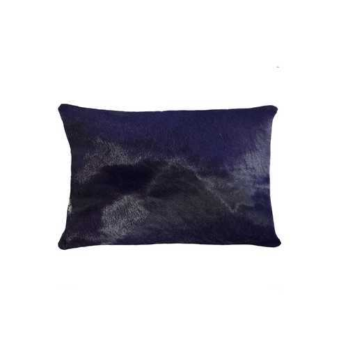 "12"" X 20"" X 5"" Purple Cowhide Pillow"