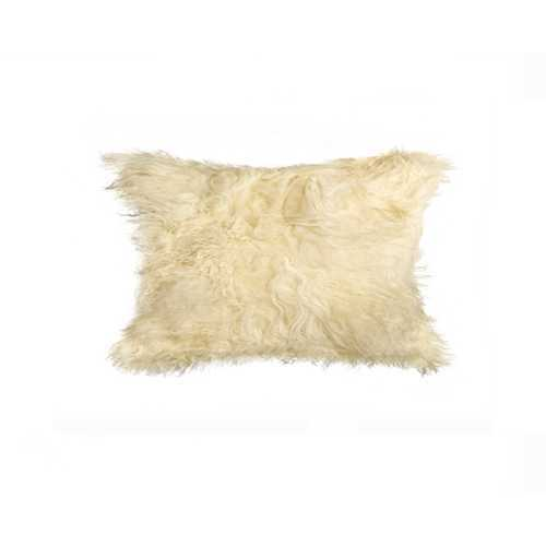 "12"" X 20"" X 5"" Natural Sheepskin Pillow"