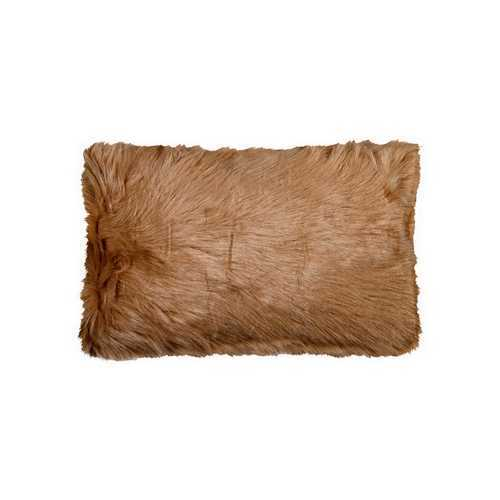 "12"" X 20"" Tan Faux Pillow"