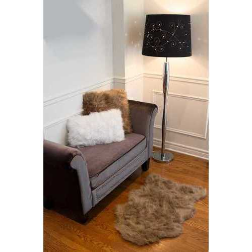Faux Sheepskin Rug 2' X 3' - Chocolate