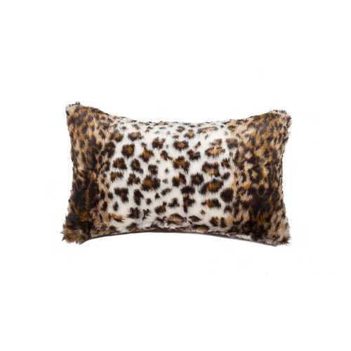 "12"" X 20"" Georgetown Lynx Faux Pillow"
