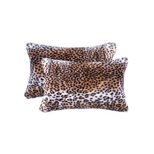 """12"""" X 20"""" El Paso Leopard Faux 2-Pack Pillow"""