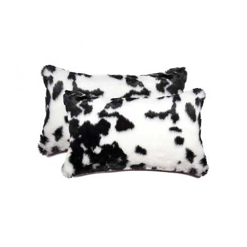 "12"" X 20"" Sugarland Black & White Faux 2-Pack Pillow"