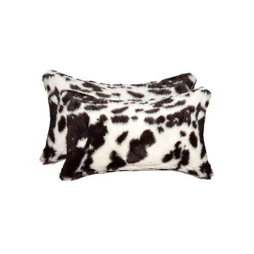 """12"""" X 20"""" Brownsville Chocolate & White Faux 2-Pack Pillow"""