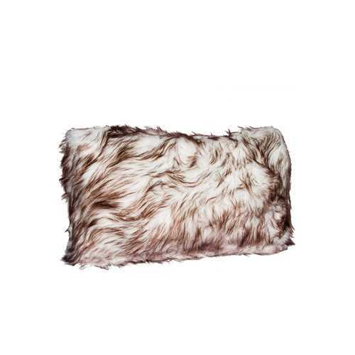 "12"" X 20"" Gradient Chocolate Faux Fur Pillow"