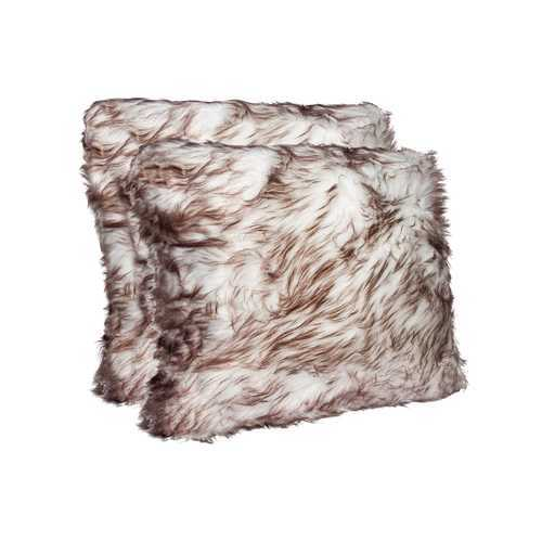 """18"""" X 18"""" Gradient Chocolate Faux 2-Pack Pillow"""