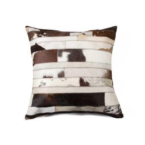 "18"" X 18"" X 5"" Chocolate And Natural Pillow"