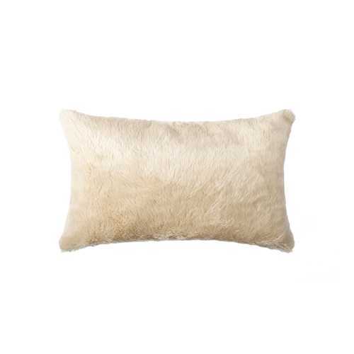 "12"" X 20"" Sand Faux Pillow"