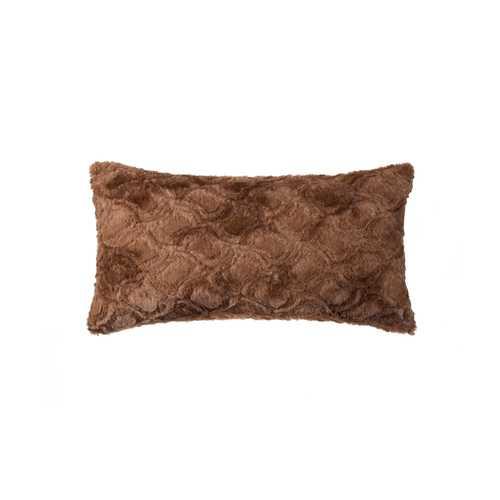 """12"""" X 20"""" Brown Mink Faux Pillow"""