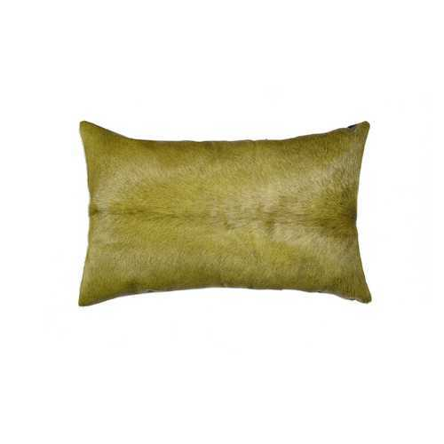 "12"" X 20"" X 5"" Verde Cowhide Pillow"
