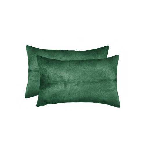 "12"" X 20"" X 5"" Verde 2 Pack Cowhide Pillow"