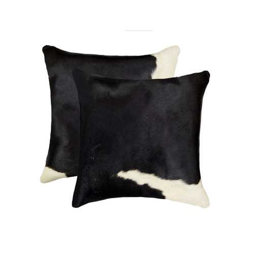 """18"""" X 18"""" X 5"""" Black And White 2 Pack Pillow"""