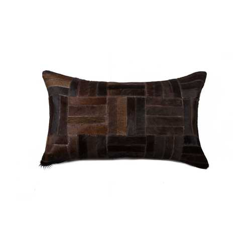 Cowhide Pillow 12X20 - Chocolate