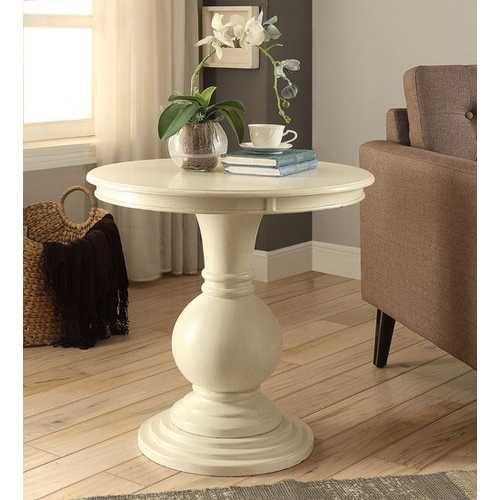 End Table in Red - MDF, Solid Wood Leg Red