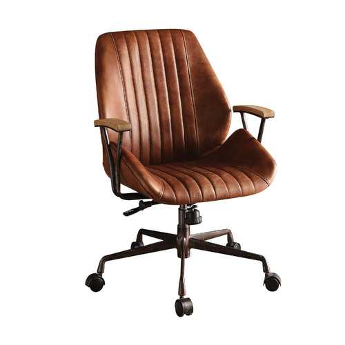 Hamilton Top Grain Leather Office Chair in Cocoa Leather