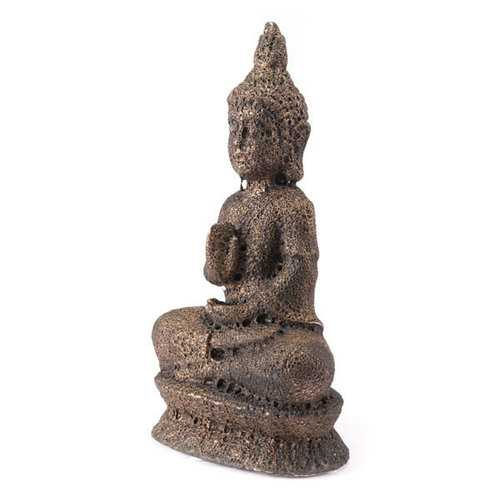 """10.4"""" X 6.5"""" X 19.1"""" Brown Buddha Sculpture"""