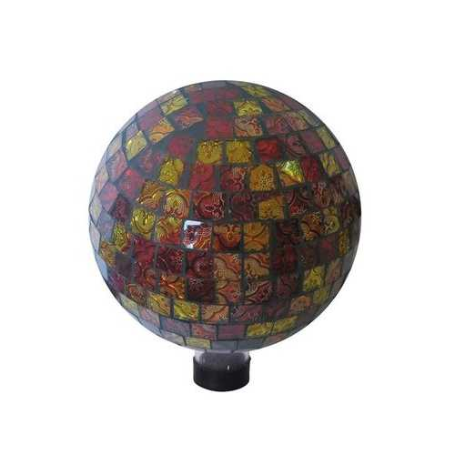 10 Inch Red And Gold Gazing Globe